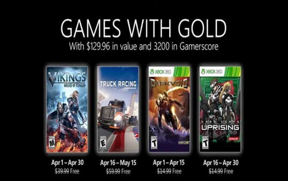 Xbox | Games With Gold: Confira jogos de abril