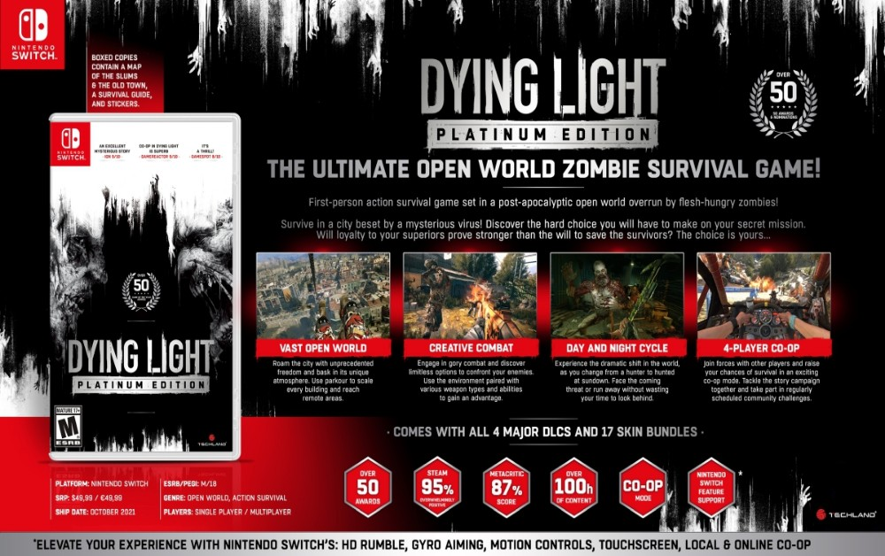 Dying Light Platinum Edition | Jogo chega para Switch cheio de novidades